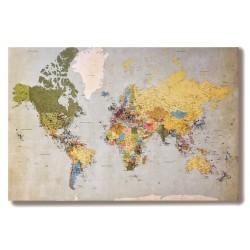 Mapa świata Obraz na...