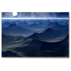 Pełnia księżyca góry Obraz...