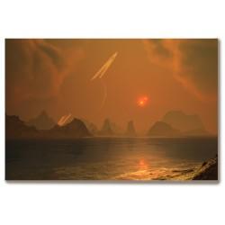Abstrakcja planety Obraz na...