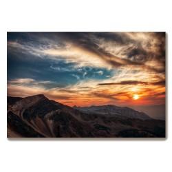 Góry zachód słońca Obraz na...
