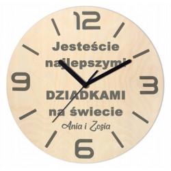 Zegar Drewniany na Dzień...