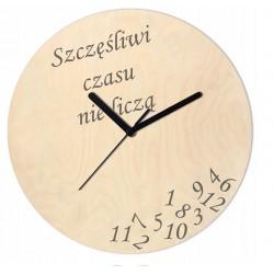 Zegar Drewniany Szczęśliwi...