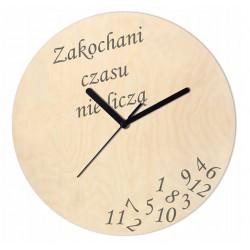 Zegar Drewniany Zakochani...