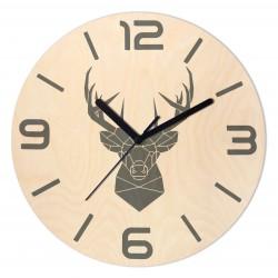 Zegar Drewniany Jeleń