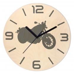 Zegar Drewniany Motocykl