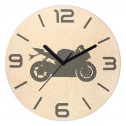 Zegar Drewniany Motocykl...