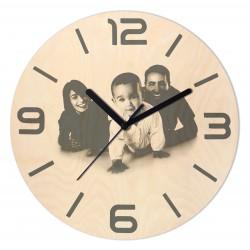 Zegar Drewniany z własnym...