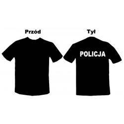 Koszulka Policja Biały tył